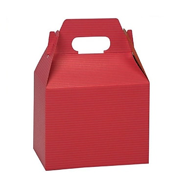 BOXit Gable Boxes Coloured Pinstripe, 100% Recyclable, 6 x 4 x 4