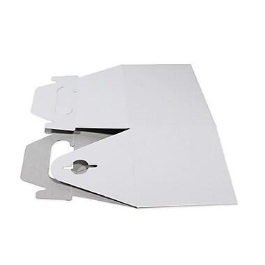 BOXit Gable Boxes White on Kraft, 100% Recyclable, White Kraft, 9 1/2 x 5 x 5