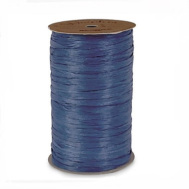 B2B Wraps – Ruban raphia Wraphia, couleurs mates, 18 mm x 100 verges, bleu royal