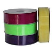 "B2B Wraps Organza Sheer Ribbon, Basic Colour, 1 1/2"" x100yds, 1/Pack"
