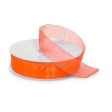 B2B Wraps Organza Sheer Ribbon, Basic Colour, 5/8