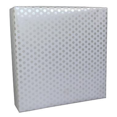 B2B Wraps – Papier d'emballage cadeau, 24 po x 50 pi, blanc nacré