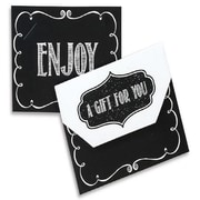 "Nashville Wraps Fold Over Gift Card Holders with Velcro Closures, 4-1/2x3-1/2x3/8"", 12/Pack"
