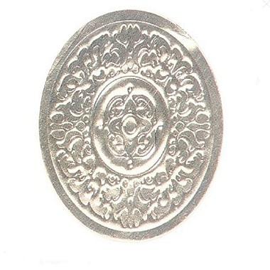 Médaillons de type « Nashville » sur feuille gaufrée en aluminium, 1 1/2 po de diamètre, 500/paquet, argent
