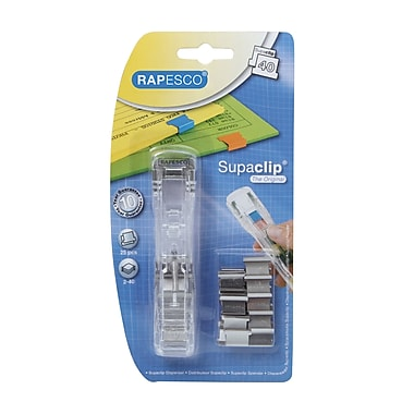 Rapesco Supaclip 40 Dispenser includes 25 Stainless Steel Clips