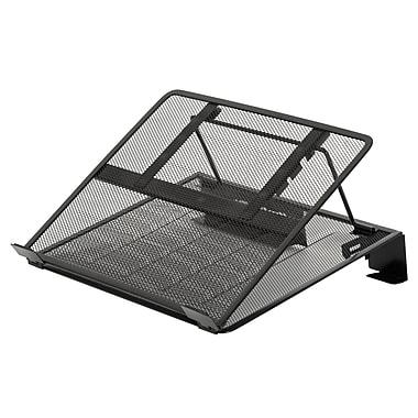 Merangue – Support pour ordinateur portatif en mailles métalliques, noir