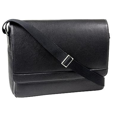 Bugatti - Sac messager pour portatif de 15,6 po, noir
