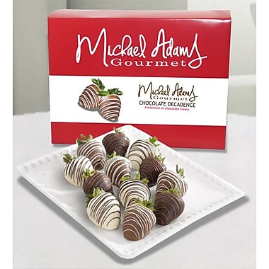 Michael Adams Gourmet – Fraises enrobées de chocolat, paquet de 12