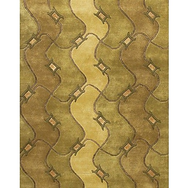 Chandra Aadi Brown/Tan Area Rug; 5' x 7'6''