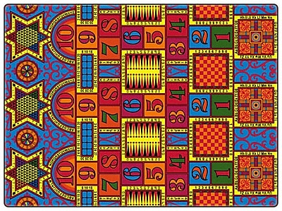 Flagship Carpets Educational Games That Teach Area Rug; Rectangle 12' x 18'
