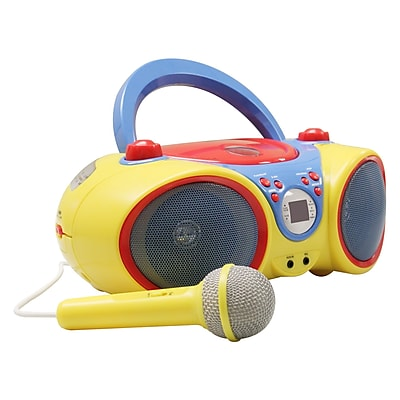 HamiltonBuhl KIDS-CD30 Kids Audio CD Player Karaoke Machine with Microphone 1832539