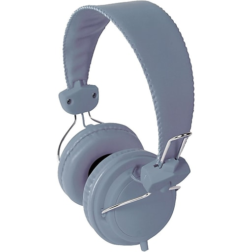 HamiltonBuhl FV-GRY Headset with In-Line Mic, Gray