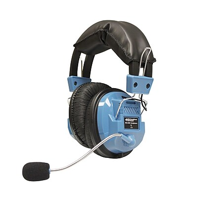 HamiltonBuhl SCG-AMV Deluxe Headset with Gooseneck Mic, Blue