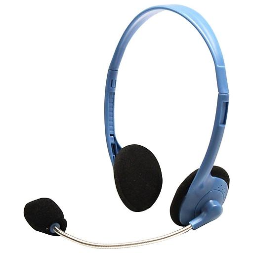 HamiltonBuhl MS2G-AMV Personal Headset with Gooseneck Mic, Blue