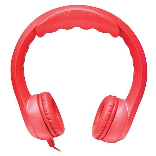 HamiltonBuhl KIDS-RED Flex-Phones Foam Headphones, Red