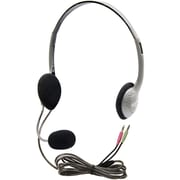 HamiltonBuhl HA2M Personal Multimedia Headphone with Mic, Gray
