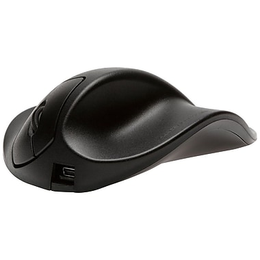 Hippus Wired Light Click HandShoe Mouse, Right Hand, Extra-Small, Black