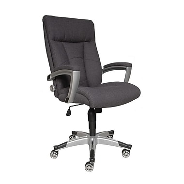 sealy posturepedic santana fabric executive chair, charcoal grey
