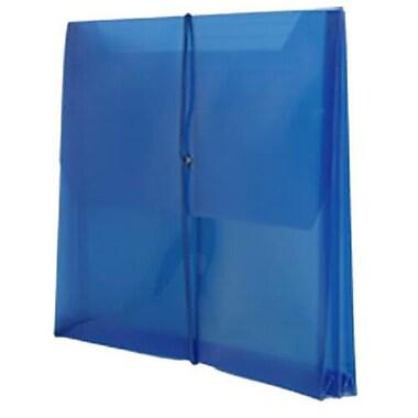 JAM Paper® Plastic Envelopes, 2 5/8 Expansion, Elastic Closure, 9.75x13, Assorted Poly Colors, 18/pack (218e25bgopfuclg)