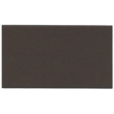 JAM Paper® Blank Note Cards, 3drug size, 2 x 3.5, Chocolate Brown, 500/Pack (117512694g)