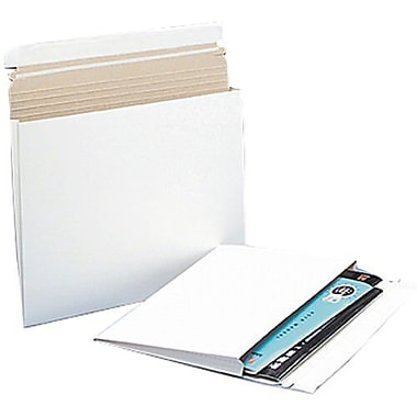 JAM Paper® Expandable Photo Mailer, 12.25 x 9.5 x 1, White, 10/Pack (28906706g)