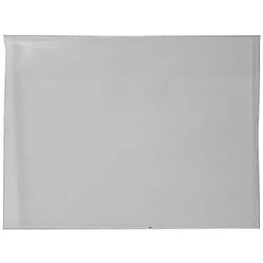 JAM PaperMD – Enveloppes en plastique format livret avec fermeture à rabat rentrant, 8 7/8 x 12 po, transparent, 24/paquet