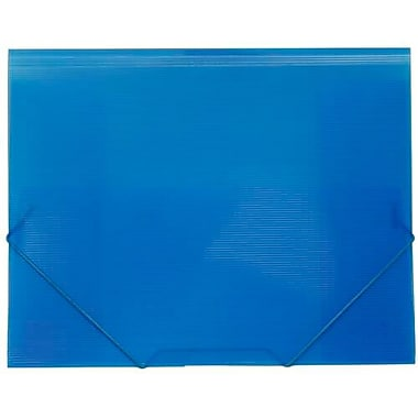 JAM Paper® Plastic Booklet Portfolio with Elastic Closure, Letter, 9.5 x 12.38, Blue Grid, 6/Pack (233212323g)