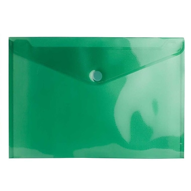 JAM PaperMD – Porte-documents en plastique avec fermeture à élastique, 9 1/2 x 12 3/8 po, format lettre, vert, 24/pqt