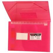 Jam PaperMD – Classeur expansible format lettre à 13 pochettes, 9 x 13 po, rouge translucide, 2/paquet