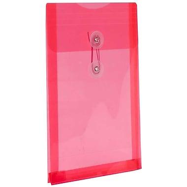 JAM PaperMD – Enveloppes en plastique format lettre à ouverture au sommet avec bouton et ficelle, 6 1/4 x 9 1/4 po, rouge, 24/p.