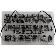 JAM PaperMD – Étuis pour cartes professionnelles avec motifs noirs du Brooklyn Museum, transparent, 5/paquet
