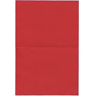 JAM PaperMD – Cartes pliées vierges, 4 2/3 x 6 1/4 po, rouge, 500/pqt
