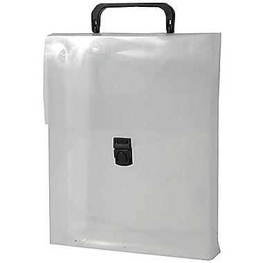 JAM PaperMD – Malette de plastique verticale, 9 1/4 x 2 1/2 x 12 po, transparents, paquet de 2