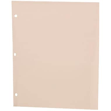 JAM Paper® Plastic Heavy Duty 3 Hole Punched Two Pocket School Folder, Clear, 12/Pack (383HHPclg)