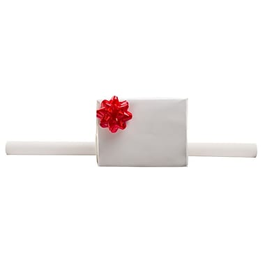 JAM Paper® Gift Wrapping Paper, 25 sq. ft., Matte White, 4/Pack (170128241g)