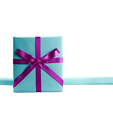 JAM Paper® Gift Wrapping Paper, 25 sq. ft., Matte Pool Blue, 4/Pack (170128192g)