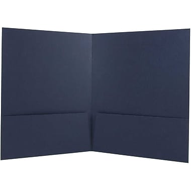 JAM Paper® Two Pocket Presentation Folders, Navy Blue Linen, 12/Pack (26982g)