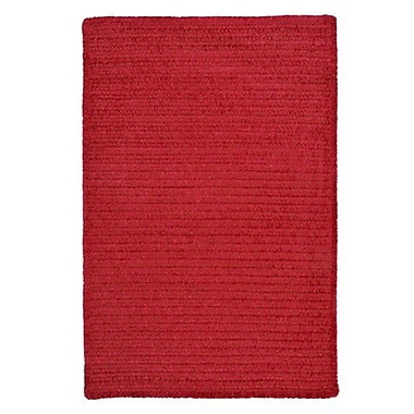 Colonial Mills Solid Chenille Sangria Area Rug; Rectangle 10' x 13'