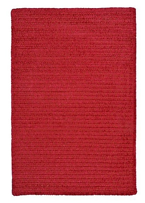 Colonial Mills Solid Chenille Sangria Area Rug; Rectangle 3' x 5'