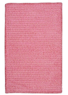 Colonial Mills Solid Chenille Pink Area Rug; Runner 2' x 6'