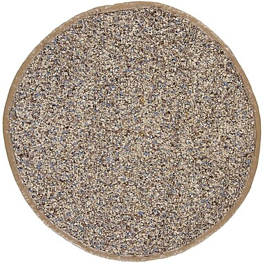Chandra Art Ivory Area Rug; Round 4'