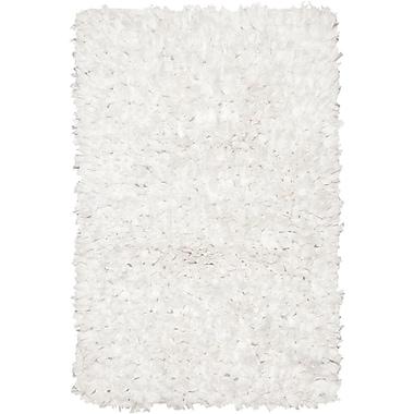 Chandra Paper Shag White Area Rug; 1'8'' x 2'6''