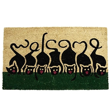 Rubber-Cal, Inc. Purrrrr! Cat Welcome Animal Doormat
