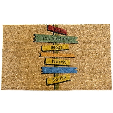 Rubber-Cal, Inc. Need Direction? You Are Here Doormat