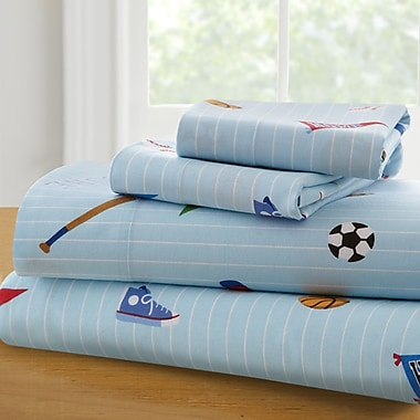 Wildkin Olive Kids Game On 210 Thread Count 100pct Cotton Sheet Set; Full