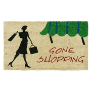 Rubber-Cal, Inc. Gone Shopping Unique Welcome Doormat