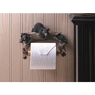 Zingz & Thingz Black Bear Wall Mounted Toilet Paper Holder
