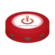 ChargeHub™ USB Universal Charging Station, Round,Red