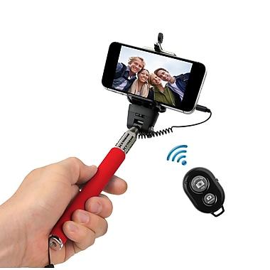 Xtreme – Perche à égoportrait avec télécommande Bluetooth, rouge