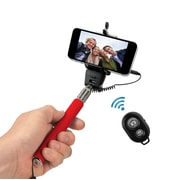 Xtreme Selfie Stick with Bluetooth Remote, Red